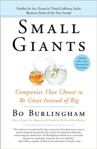 Small Giants: Companies That Choose to Be Great, Instead of Big