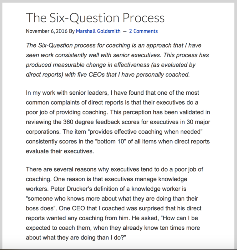 The Six Question Process